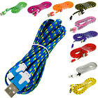 Noodle Rope Braided Sync Usb Data Charger Cable Cord 10ft For Iphone 5s 5 5c 6
