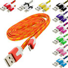 Noodle Rope Braided Sync USB Data Charger Cable Cord 3FT for iPhone 5S 5 5C
