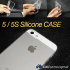 5 / 5S clear Silicone case lightweight transparent cover protective bulk lot