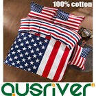 4pcs America Flag Stars Single/Double/Queen King Size Bed Quilt/Doona Covers Set