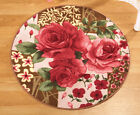 Collections Etc Round Floral Rose Accent Rug