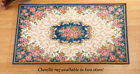 Collections Etc Traditional Chenille Floral Area Floor Rug