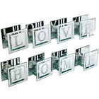 HOME LOVE TEA LIGHT CANDLE HOLDER CRYSTAL ORNAMENT MIRROR GLASS HOME GIFT SET