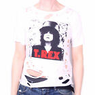 T-REX T SHIRT - THE SLIDER JUNIORS / LADY FIT DISTRSSED PUNK STYLE 100% OFFICIAL