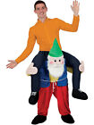Carry Me Gnome Funny Adults Mascot Fancy Dress Up Party Dwarf Costume Outfit