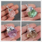 Similar Item! Charm Rough Pendant Bead / Silver ADS064
