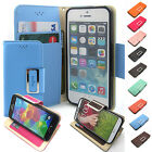 Baumus Flip Leather Wallet Case Cover w/Silicone For Apple iPhone Galaxy LG+Film
