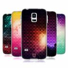 HEAD CASE PRINTED STUDDED OMBRE GEL CASE FOR SAMSUNG GALAXY S5 MINI G800F