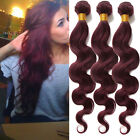 "Pretty Human Hair Wefts for Ladies Body Wave Brazilian 10""-30"" 50g/Bundle 99J#"