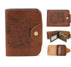 New Men Genuine Leather trifold Wallet 14 Credit/ID Card Holder Slim Coin Purse