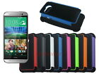 Dual Layer Hybrid Armor Rugged Hard Case for HTC One Mini 2
