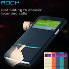 For Samsung Galaxy Note 4 Magnetic Flip Wallet Smart View Window Skin Case Cover