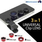3 in1 Lens Clip Kit  Fish Eye + Wide Angle + Macro for Iphone Samsung Android