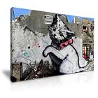 Banksy Palestine Kitten in Gaza Canvas Graffiti Wall Art Home Office Deco 9 size