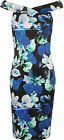 New Womens Floral Print Strappy Sleeveless Knee Length Off Shoulder Ladies Dress