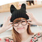 Cute Unisex Cotton Knit Crochet Beanie Hat Cap Cat Rabbit Ear Winter 7 Color New