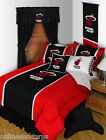Miami Heat Comforter Bedskirt Sham Pillowcase Twin Full Queen King Size