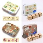 JAPAN MY NEIGHBOUR TOTORO/ KIKI'S DELIVERY METAL BOX 4PC WOOD STAMPS SET