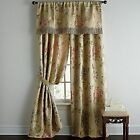 "Chris Madden BUTTERFIELD GOLDEN FLORAL Drapery Pair Rod Pocket 84""L"