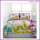 Purple & Green Flowers Teen TWIN FULL QUEEN Comforter Set 7Pc Bedding Reversible