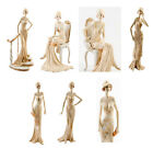 Art Deco Broadway Belles Lady Figurine Gift Ornament Peach Vintage Ladies Statue