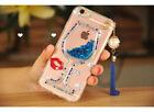S*ACT Sparkly Bling Stars Glitter Flowing Liquid  Movable hard casefor iphone