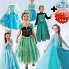 Cosplay Mädchen Kostüme Kleid Frozen Princess Elsa Anna Dress Party Costume