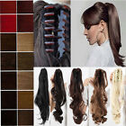New Fashion Clip In Pony Tail Hair Extension Claw Clip On Ponytail Real Quality