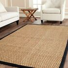 Safavieh Natural Fiber Seagrass NATURAL/BLACK Area Rugs - NF114C