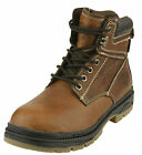 NFL Men's Tampa Bay Buccaneers Steel Toe Lace Up Leather Work Boots - Brown