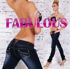 NEW SEXY 6-14 WOMENS JEANS LOW RISE STRETCH DENIM HOT FABULOUS HIPSTER Jeans