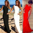 Sexy Red Carpet Backless Women's Floor Length Pageant Formal Evening Party Dress