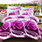 3D Bed Doona Duvet Quilt Cover And 2 Pillowcases Set Or Flat #L