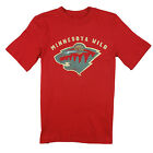 NHL Hockey Youth Boys Minnesota Wild Vintage Tee - Red $9.99 USD on eBay