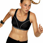 NEW LADIES SHOCK ABSORBER RUN ACTIVE TOTAL SUPPORT LEVEL 4 SPORTS BRA TOP BLACK