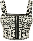 New Womens Monochrome Aztec Tribal Print Boobtube Bralet Ladies Crop Top 8-14