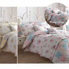 Shabby Country Chic Duvet Cover With Flowers - Reversible Patchwork Bedding Set