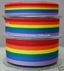 Berisfords Rainbow / Gay Pride Grosgrain Ribbon ~ 15mm 25mm 35mm ~ 1 or 3 Metres
