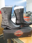 NEW Harley Davidson Womens Leather Boot Boots Shoes Medium Black Nora