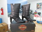 NEW Harley Davidson Womens Leather Boots Shoes Medium Black Tawny