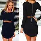 2015 Sexy Womens Bodycon Long Sleeve Slim Cocktail Party Short Dress Thrifty