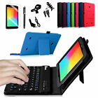 For LG G Pad 7.0/G Pad F7.0 Tablet Leather Case Cover Bluetooth Keyboard Bundle