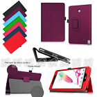 "Folio Stand PU Leather Cover Case for LG G Pad F 8.0 V495 V496 4G 8"" LTE Tablet"