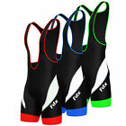 Fdx Mens Performance Cycling Bib Shorts Coolmax® Padded Cycle Pants Shorts