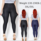 Women Plus Size 3XL 5XL Cotton Imitation Jean Soft Elastic F