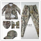 Outdoor bionic camouflage fatigues safari suit Jacket&Pant Sets covered 5 items