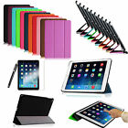 Slim Magnetic Flip Leather Case Cover With Protector Stylus for New iPad Air 2