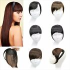 Sweet Girl Woman Headband Bang Fringe Neat Hair Extensions Accessories Clip In