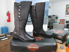 NEW Harley Davidson Womens Leather Boots Shoes Medium Black Mollie