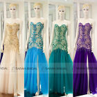 Custom Prom Evening Dresses Long Side Slit Swing Pageant Party Bridal Gowns 2015
